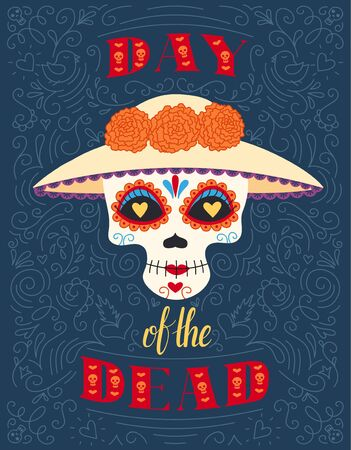 Dia de muertas background, great design for any purposes. Vector eps10.