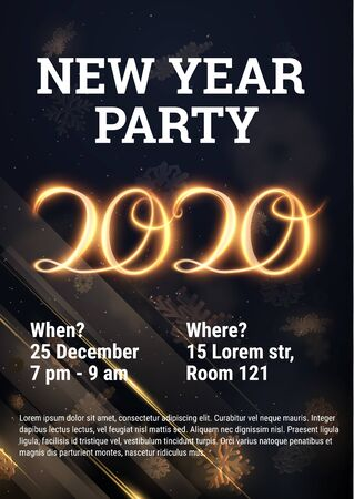Modern 2020 new year, great design for any purposes brochure or flyer design template