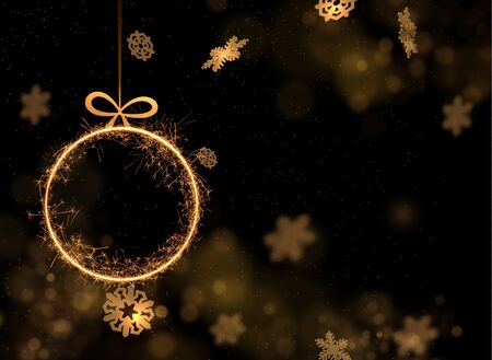 Christmas  festive background with shiny frame. Vector . 向量圖像