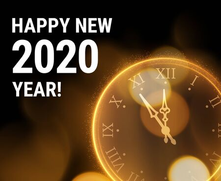 Beautiful 2020 New year greeting card background. Vector .