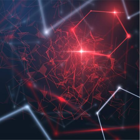 Abstract background with connections. Concept of communication or infection spread background.