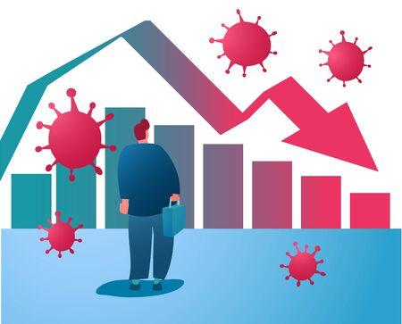 Corona virus economy crisis vector background. EPS10