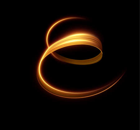 Golden shiny light lines vector background. EPS10