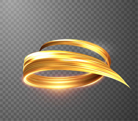 Golden shiny light trail lines vector background. EPS10 Stockfoto - 159682006
