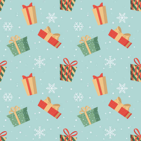 Colorful Christmas and New Year seamless pattern Stockfoto - 160013777