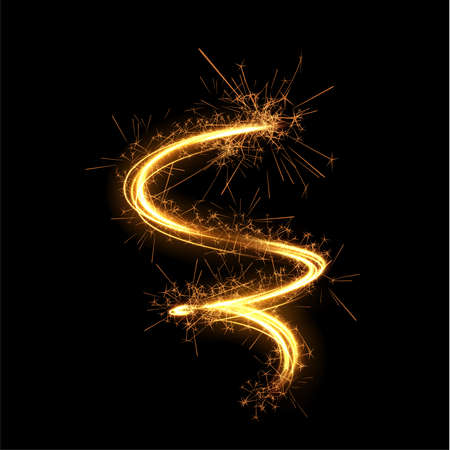Shiny spiral with magic dust particles vector effect. Stockfoto - 160013806