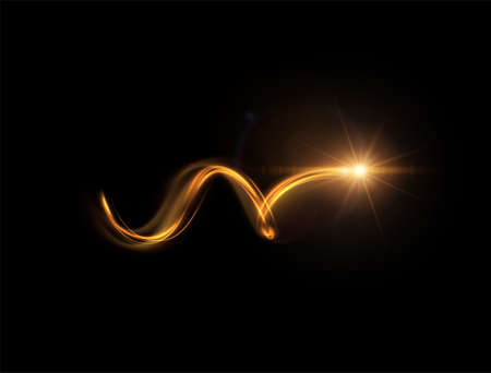Shiny spiral with magic dust particles vector effect. Ilustração