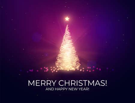 Shiny Christmas holiday background with stylish bokeh.