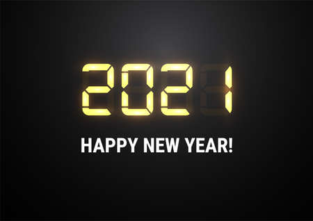 2021 New year shiny vector background light shiny digital numbers.