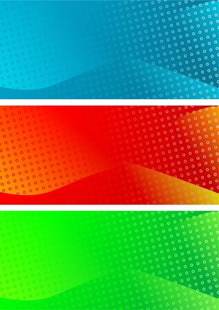 Set of abstract banners Stock Photo - 5892626