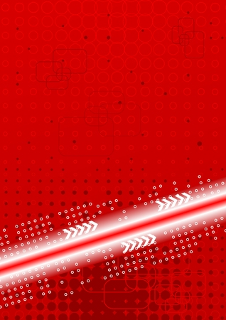 bends: Bright contrast technical background: red and white Illustration