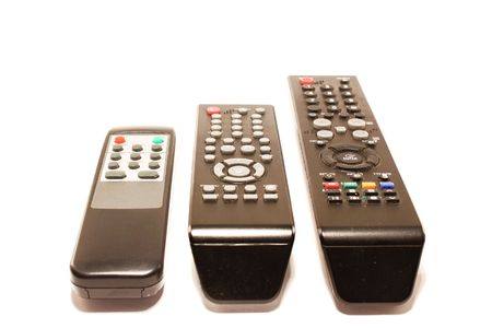 remote controls: The remote controls, isolated on a white background