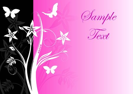 Colourful bright floral background with butterfly Stock Vector - 6294750