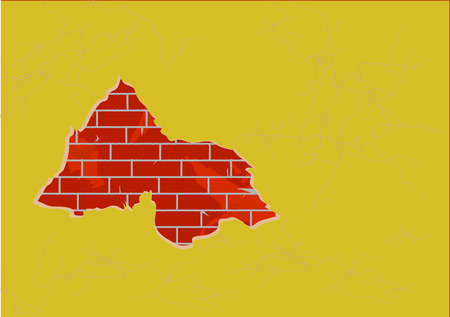 bricklaying: The big hole in a wall with a bricklaying