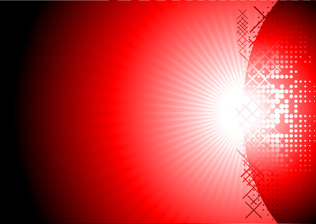 Bright red abstract background for your design Vector