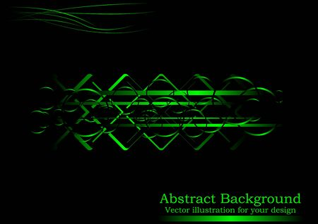 horizontal position: Creative black-green abstract background (horizontal position)