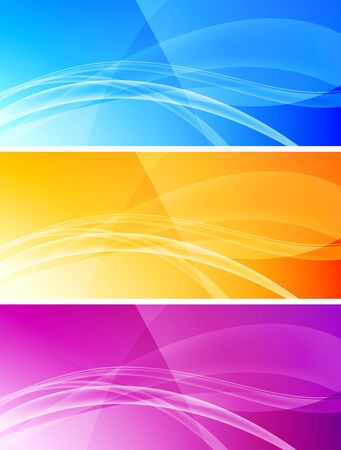 Set of abstract wavy banners Stock Vector - 6690117