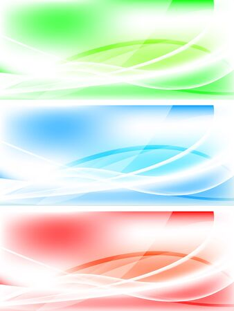 Set of abstract wavy banners  Stock Vector - 6690115