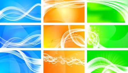 Set of abstract wavy banners Stock Photo - 6845273