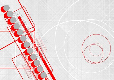 Abstract background with circles and arrows Vector
