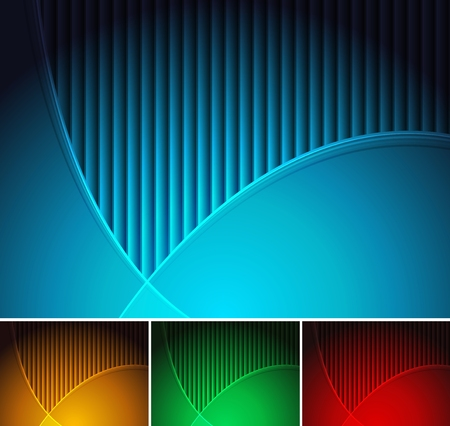 Set of abstract horizontal backgrounds  Vector