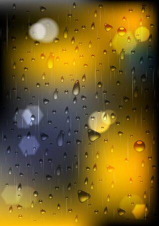 rain window: rain drops on window (eps 10)