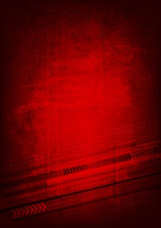 red spot: Grunge technical background