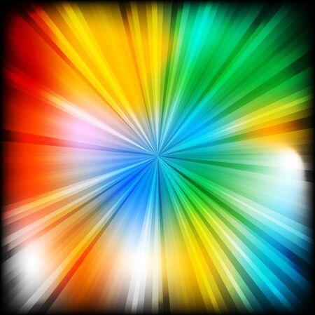 multi coloured: Bright multi coloured beams Illustration