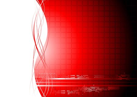Abstract technical background with waves Vector
