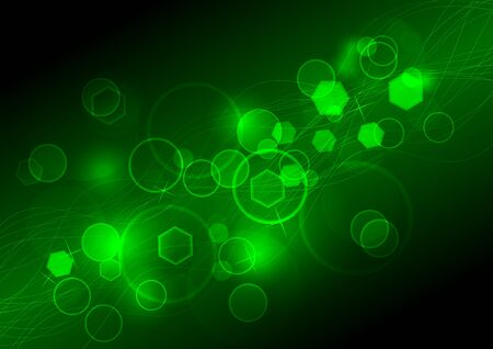 Abstract background with bright illumination. Vector