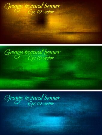 Set of dark grunge banners - EPS 10 Stock Vector - 7527394