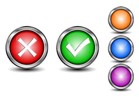 illustration of check mark buttons Vector
