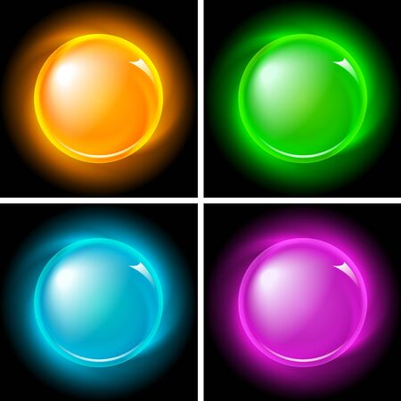 Set of bright magic buttons   Stock Vector - 7711868