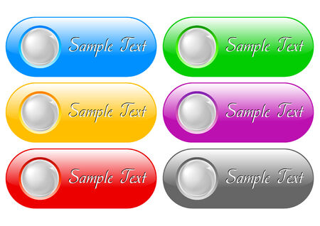 illustration of internet buttons Vector