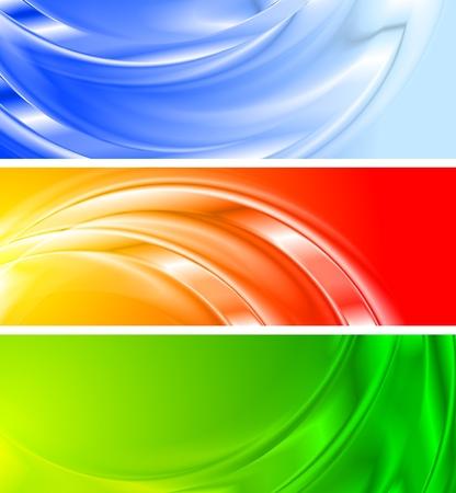Satz von lebendigen abstract Banner (kein Farbverlauf Mesh)