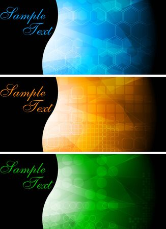 Set of colourful technical banners   Stock Vector - 7909712