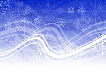 Abstract Christmas background with snowflakes and waves Stock Vector - 8211796