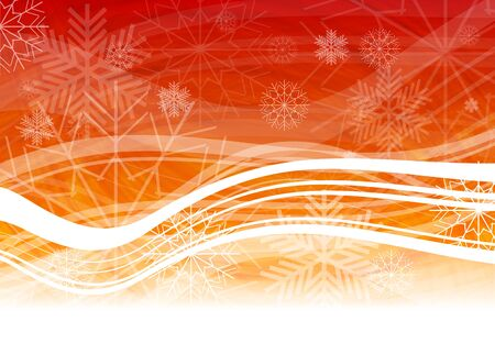 Abstract Christmas background with snowflakes and waves Stock Vector - 8211797