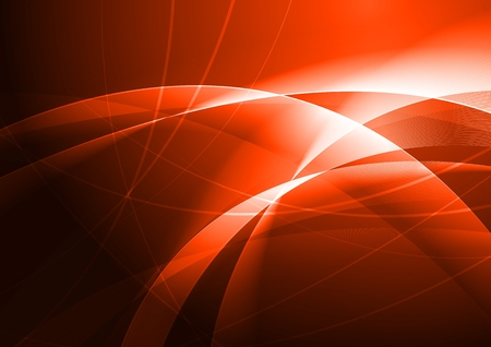 Red abstraction with beautiful waves  Illustration