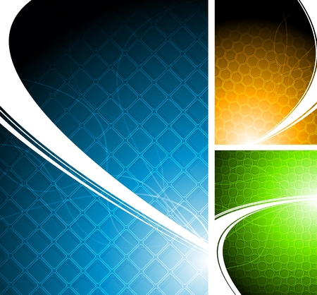 Three bright abstract backgrounds  Stock Vector - 8278526