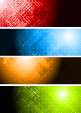 Four vibrant technical banners - eps 10 vector Stock Vector - 8387097