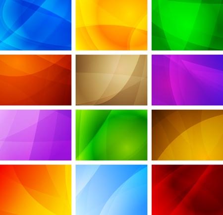 Set of vibrant simple backdrops. Eps 10 vector illustration