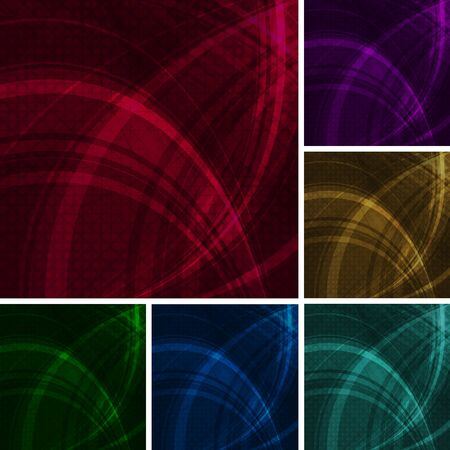 Dark abstract backgrounds. Six colors. Stock Vector - 8445241
