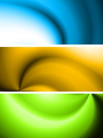 Set of vibrant abstract banners Vector