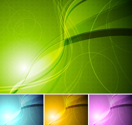 Abstract wavy backgrounds Stock Vector - 8882726