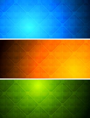 Simple abstract banners with square texture Stock Vector - 9085304