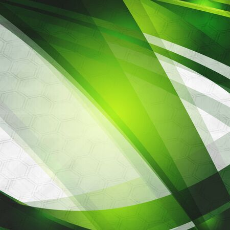 Abstract green stripes on grey background Vector