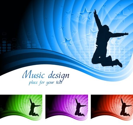 abstract music design Stock Vector - 9085301