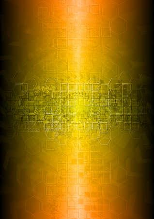 Bright hi-tech background. Vector eps 10 Stock Vector - 9176535