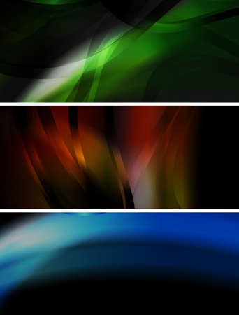 Set of abstract glowing banners. Vector eps 10 Vector